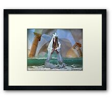 ...the Goddess and Birth of a Temple in the Sea... Framed Print
