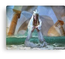 ...the Goddess and Birth of a Temple in the Sea... Canvas Print