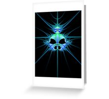 Alien Head Fractal Greeting Card