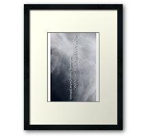 Not Afraid Of Lightning - Loki Framed Print