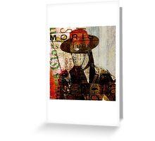 El Zorro Greeting Card