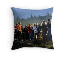 Backlit crowd Throw Pillow