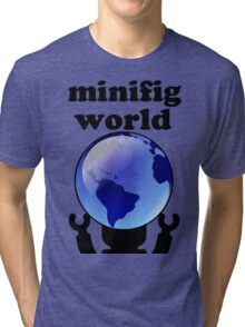 MINIFIG WORLD Tri-blend T-Shirt