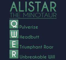 Champion Alistar Skill Set In Green by SpiritRush