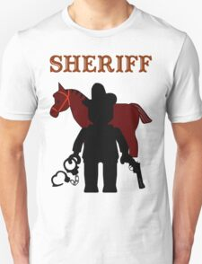 """SHERIFF"", Customize My Minifig T-Shirt"