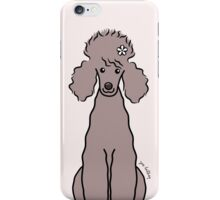 Poodle with White Flower iPhone Case/Skin