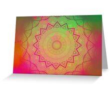 Starburst Plasticate Greeting Card