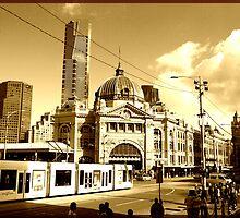 Flinders Street by Gerard Rotse