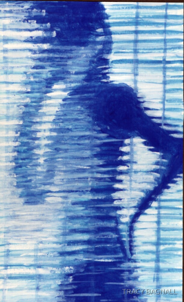 blue figure by TRACY BAGNALL