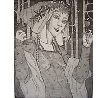 Red Riding Hood: Homage To The Brothers Grimm/Rackham Photographic Print