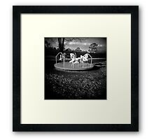 spinning will make you fall Framed Print