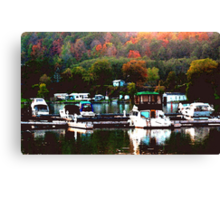Fall Harbour Canvas Print