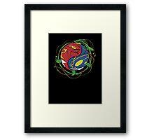 Mega Rayquaza Pokemon Framed Print
