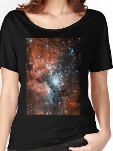 Red Galaxy 2.0 Women's Relaxed Fit T-Shirt