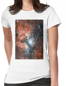 Red Galaxy 2.0 Womens Fitted T-Shirt