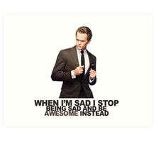 The Awesomeness that is Barney Stinson Art Print