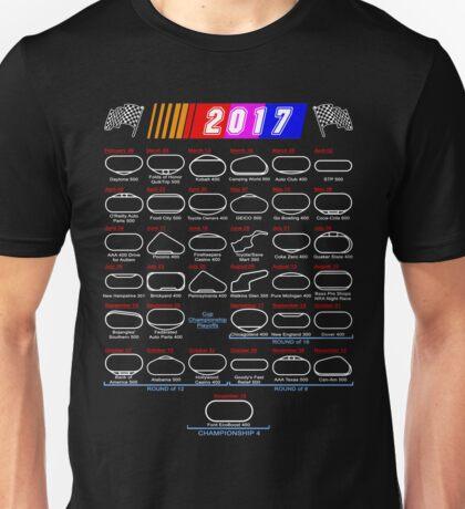 2017 Nascar Cup Series schedule calendar Unisex T-Shirt
