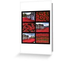 Poppies at the Tower collage Greeting Card