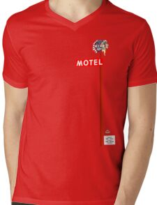 Motel Sign Mens V-Neck T-Shirt