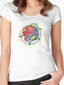 Mega Rayquaza Pokemon Women's Fitted Scoop T-Shirt