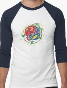 Mega Rayquaza Pokemon Men's Baseball ¾ T-Shirt