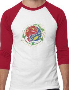 Mega Rayquaza Pokemon Men's Baseball ¾ T-Shirt