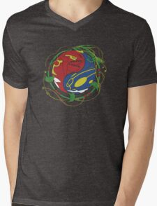 Mega Rayquaza Pokemon Mens V-Neck T-Shirt
