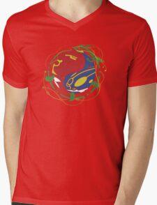 Mega Rayquaza Pokemon Mens V-Neck T-Shirt