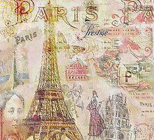 Paris Nights Paper 1 by Vintage Nest  Designs