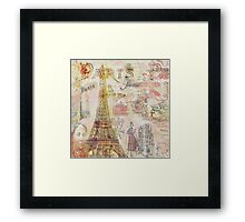 Paris Nights Paper 1 Framed Print