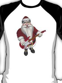Santa Claus Playing Guitar T-Shirt