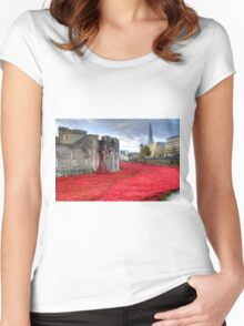 Poppies at the Tower Women's Fitted Scoop T-Shirt
