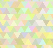 Colorful triangles in olive by HelgaScand