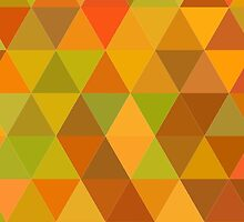 Autumn triangle pattern by HelgaScand