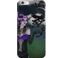 Girl in forest at night 2 iPhone Case/Skin