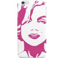 Marilyn Monroe - Fashion Model, Actress, and American Beauty Icon - Pink Outline iPhone Case/Skin
