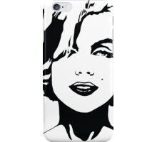 Marilyn Monroe - Hollywood Icon, Actress, Model - Black Outline iPhone Case/Skin
