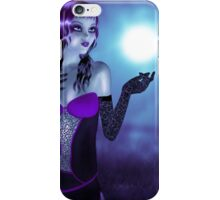 Girl in forest at night 4 iPhone Case/Skin