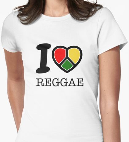 I love Reggae music... rasta maaaaaaan! Womens Fitted T-Shirt