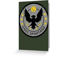 Spartan Patch Greeting Card