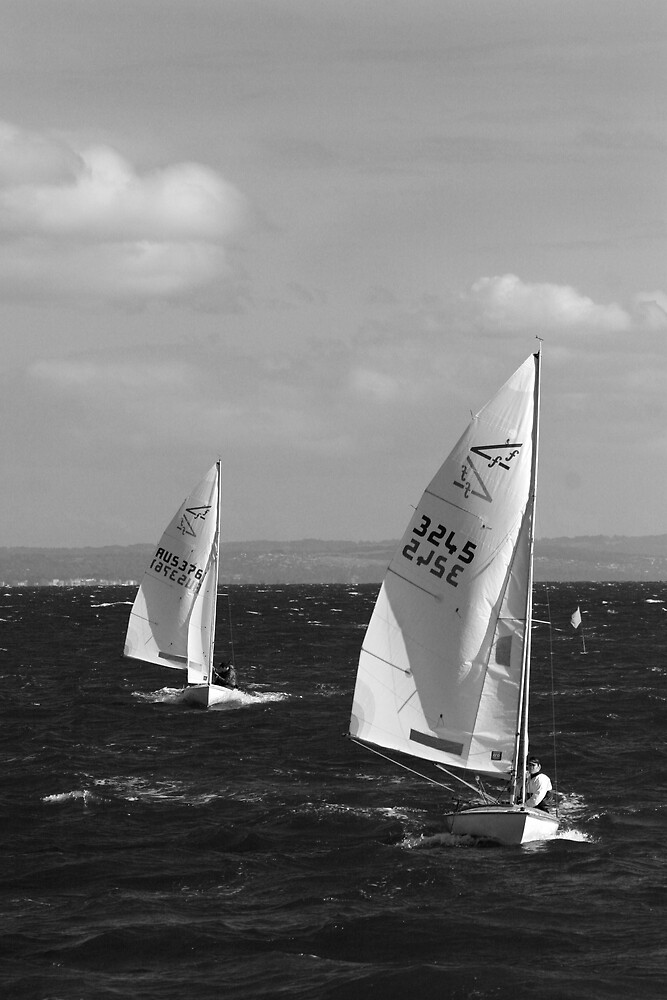 Racing Yachts by Gavan  Mitchell