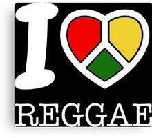 I love reggae. Black version! Canvas Print