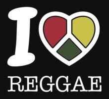 I love reggae. Black version! Kids Clothes