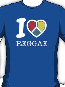 I love reggae. Black version! T-Shirt