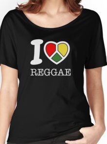 I love reggae. Black version! Women's Relaxed Fit T-Shirt