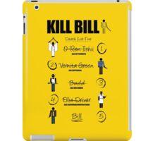 Kill Bill - Kill List iPad Case/Skin