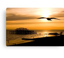 Brighton Silhouettes Canvas Print