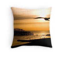 Brighton Silhouettes Throw Pillow