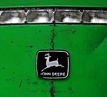 John Deere Front End of Tractor Logo Emblem Photograph by Adri Turner