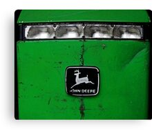 John Deere Front End of Tractor Logo Emblem Photograph Canvas Print